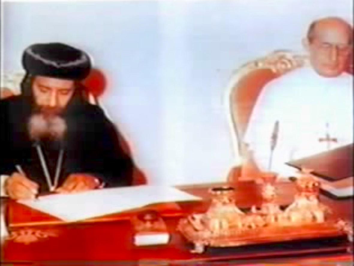 H.H. Pope Shenouda III with H.H. Pope Paul Vi