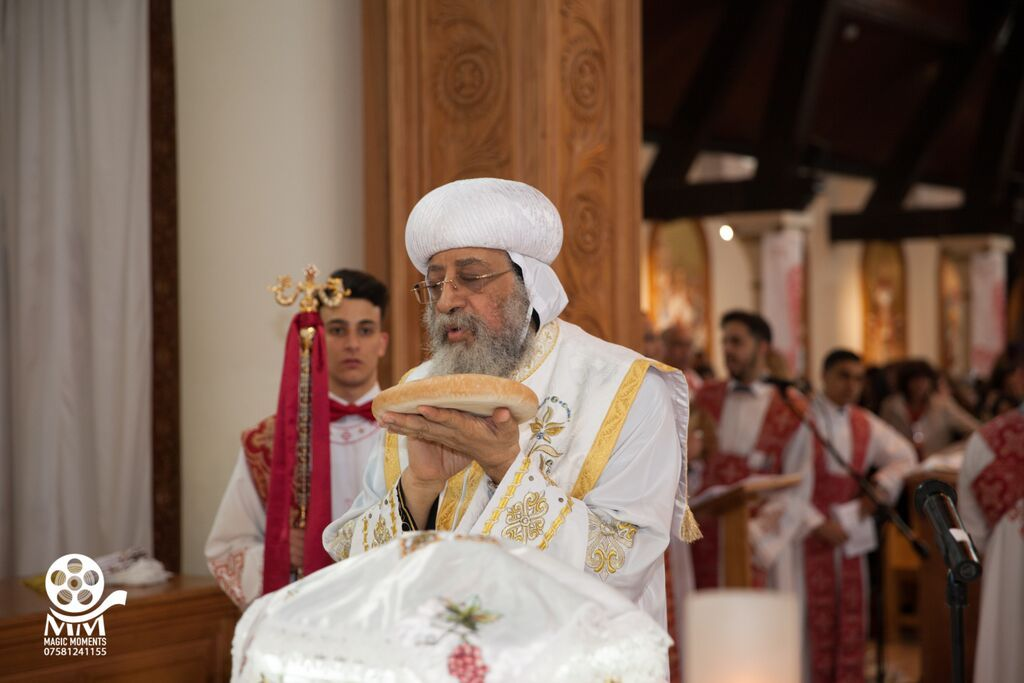H.H. Pope Tawadros II Officiating the Divine Liturgy