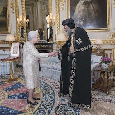 H.H. Pope Tawadros II meeting Queen Elizabeth II