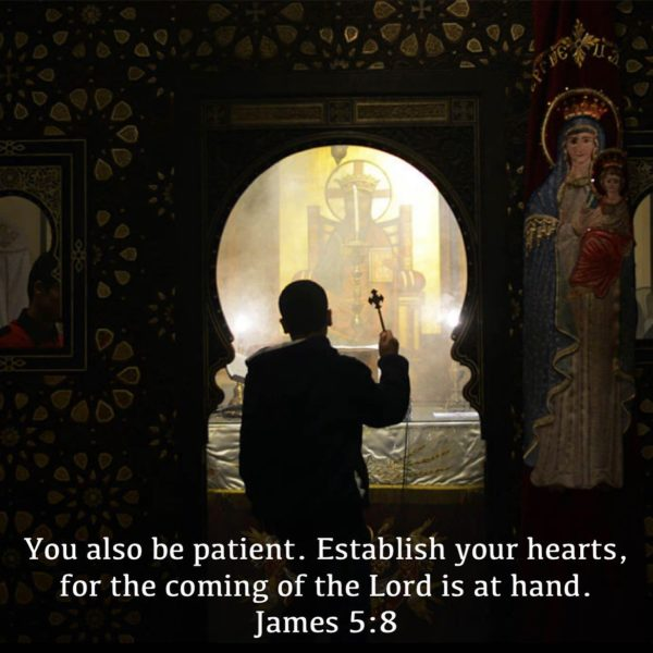 """Bear with patience everything that is thrown at you, secure in the knowledge, that it is then, in great trials, that you are most in the mind of God."" – St. Basil the Great #coptic #orthodox #patience #tribulation #hearts #lent #fasting #patient"