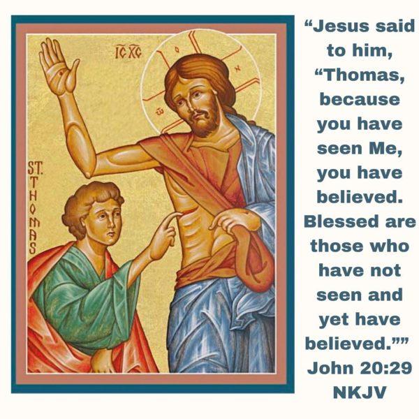 """Faith is to believe what you do not see; the reward of this faith is to see what you believe."" – St. Augustine #faith #thomas #doubt #resurrection #jesus #john20 #coptic #orthodox #orthodoxeaster #joy #sunday #bible #readings #sundayreadings #staugustine"
