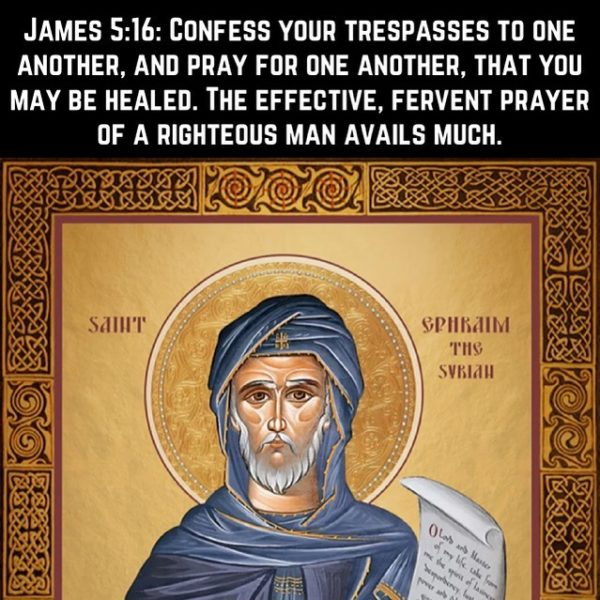 """""""There is no possession more precious than prayer in the whole human life. Never be parted from it; never abandon it."""" – St. Ephraim the Syrian #coptic #orthodox #confession #prayer"""